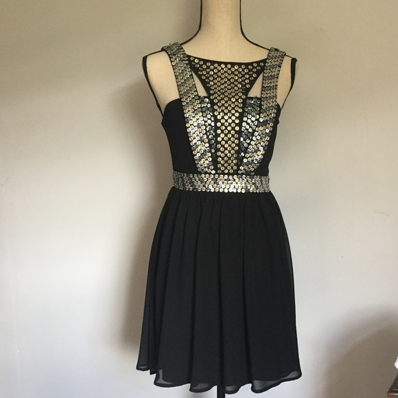 Quinn Dresses & Skirts - Black Sequined Party Dress by Quinn